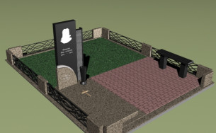 Проект мраморного памятника